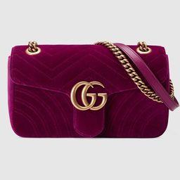 GG Marmont velvet shoulder bag   Gucci (US)