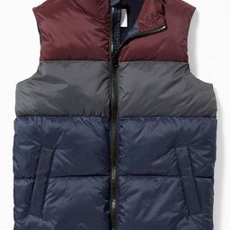 Frost-Free Quilted Vest for Boys   Old Navy US