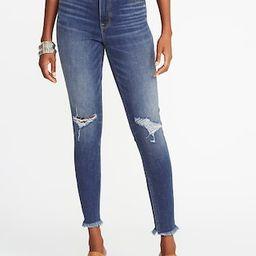 High-Rise Secret-Slim Pockets Raw-Edge Rockstar Ankle Jeans for Women   Old Navy US