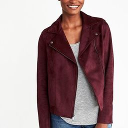Sueded-Knit Moto Jacket for Women   Old Navy US
