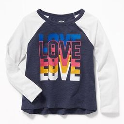 Softest Graphic Raglan-Sleeve Tee for Girls   Old Navy US