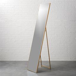 "infinity brass 16""x69"" standing mirror | CB2"