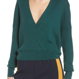 Leith Rib Wrap Sweater | Nordstrom