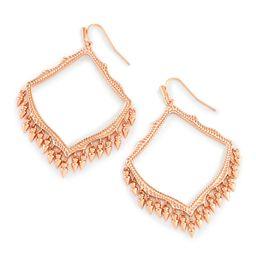 Lacy Drop Earrings in Rose Gold   Kendra Scott