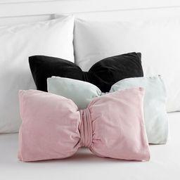 The Emily & Meritt Velvet Bow Pillows   Pottery Barn Teen