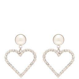 Crystal-embellished heart-charm earrings | Alessandra Rich | Matchesfashion (UK)