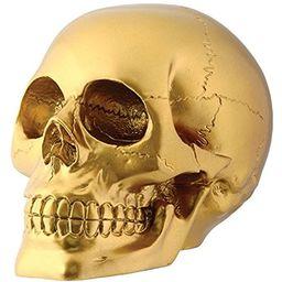 Gold Skull Head Collectible Skeleton Decoration Figurine | Amazon (US)