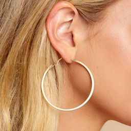 Noticing These Gold Hoop Earrings | Red Dress