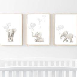 nursery prints, elephant art, elephant prints, nursery wall art, nursery art prints, elephant artwor | Etsy (UK)