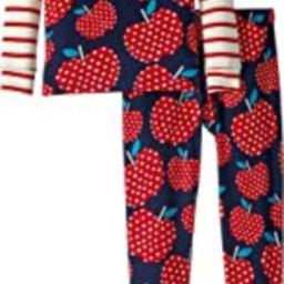 Kids Womens Polka Dots Apples Organic Cotton Pajama Set (Toddler/Little Kids/Big Kids)   Amazon (US)