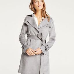 Faux Suede Trench Coat | Ann Taylor (US)