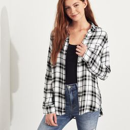 Girls Plaid Oversized Shirt | Hollister US