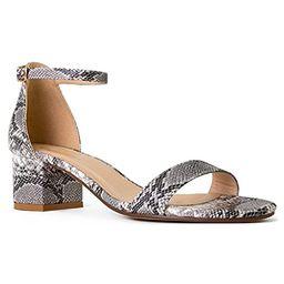 RF ROOM OF FASHION Women's Trendy Open Toe Ankle Strap Kitten Heel Sandal - Adorable Low Block Chunk   Amazon (US)