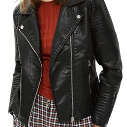 Topshop Rosa Biker Jacket (Regular & Petite) | Nordstrom