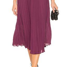 Endless Rose Pleated Midi Skirt in Eggplant | Revolve Clothing (Global)