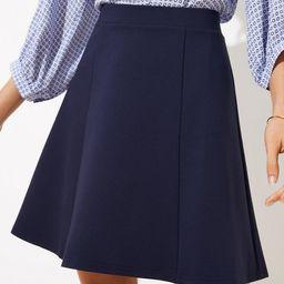 Seamed Ponte Flippy Skirt   LOFT   LOFT
