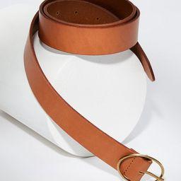 Oval Buckle Leather Belt | LOFT | LOFT