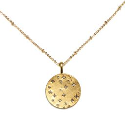 Starry-Eyed Talisman Necklace | Sequin