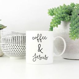 Coffee & Jesus Mug, Coffee and Jesus Mug, Coffee Mug, Coffee Lover, Jesus, Religious, Gift for her,  | Etsy (US)