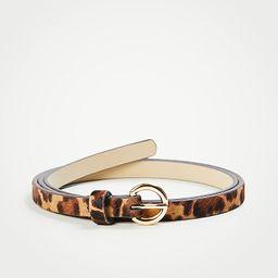 Leopard Print Haircalf Skinny Belt | Ann Taylor (US)
