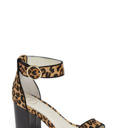 1901 Ellery Leopard Print Genuine Calf Hair Ankle Strap Sandal (Women)   Nordstrom