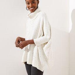 Turtleneck Poncho Sweater | LOFT | LOFT