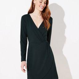 Shirred Wrap Dress   LOFT   LOFT