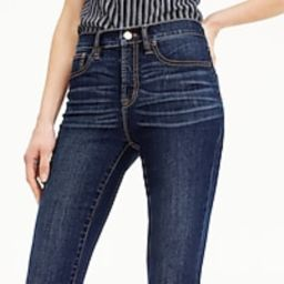 """9"""" high-rise toothpick jean in Point Lake wash with Tencel™   J.Crew US"""