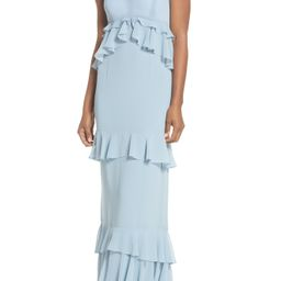 The Gywneth Ruffle Maxi Gown | Nordstrom