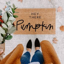 hey there pumpkin | fall decor | hello welcome mat | hand painted, custom doormat | cute doormat | o | Etsy (CAD)