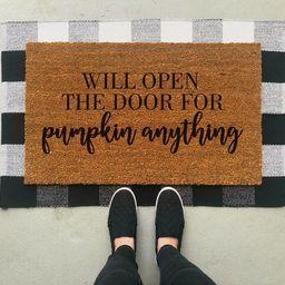Pumpkin Anything Doormat / Fall Doormat / Pumpkin Welcome Mat / Halloween Doormat / Door Mat / Fall  | Etsy (CAD)
