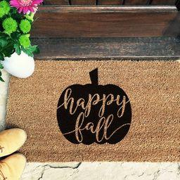 Fall Door Mat | Fall Doormat | Pumpkin Door Mat | Personalised Doormat | Closing Gift | Pumpkin Door | Etsy (CAD)