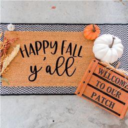 Happy Fall Y'all Doormat - Funny Door Mat - Football Doormat - Welcome Door Mat - Funny Doormats - D | Etsy (CAD)