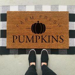 Farm Fresh Pumkins Doormat / Fall Doormat / Fall Decor / Fall Front Porch / Halloween Decor / Custom | Etsy (CAD)