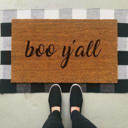 Boo Y'all Doormat / Halloween Doormat / Fall Doormat / Door Mat / Front Porch / Halloween Decor / Fu | Etsy (CAD)