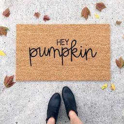 hey pumpkin doormat | fall decor | custom welcome mat | gift for her | outdoor coir mat | housewarmi | Etsy (CAD)