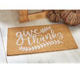 Give Thanks Thanksgiving Fall Harvest Doormat | Wayfair North America