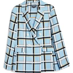 Topshop Check Double Breasted Jacket   Nordstrom