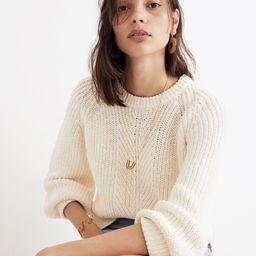 Balloon-Sleeve Pullover Sweater   Madewell