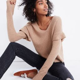 Ruffled Stitch-Play Pullover Sweater   Madewell