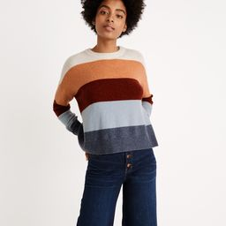 Crofton Striped Pullover Sweater in Coziest Yarn   Madewell