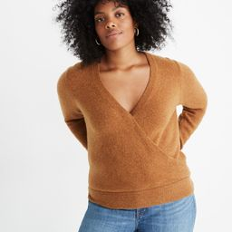 Wrap-Front Pullover Sweater in Coziest Yarn   Madewell
