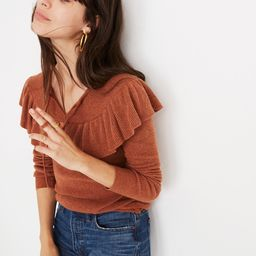 Ruffled Tie-Front Pullover Sweater   Madewell