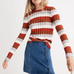 Clarkwell Pullover Sweater in Stripe   Madewell