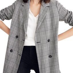 Madewell Caldwell Plaid Double Breasted Blazer   Nordstrom