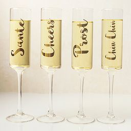 Gold-Accent Champagne Flute - Set of Four   zulily