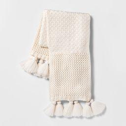 Chunky Knit Throw Blanket Cream - Opalhouse , Ivory | Target