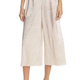 Women's Alice + Olivia Elba Textured Crepe Wide Leg Pants, Size 0 - Pink | Nordstrom