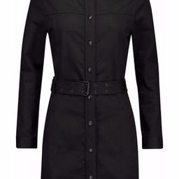 Iro Woman Ashley Belted Cotton-twill Dress Black Size 38   The Outnet US