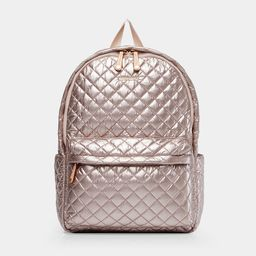 MZ Wallace Quilted Rose Gold Metallic Metro Backpack   MZ Wallace